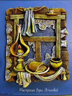 Картина из керамики