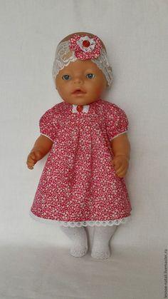 Купить Платье для куклы - ярко-красный, платье для куклы, платье для беби бона, платье на пупса