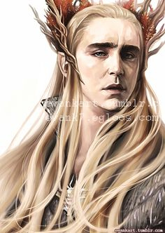 evankart:  Thranduil drawing for Mirkwood event. WIP (Korean) *Please don't repost*