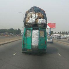 #Common sight on #Ghanaian roads. #Ghana #Africa #trotro #full #oldcar #transportation #funny #weird #loveit #travel #tour #volunteer