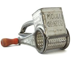 French Mouli Grater Red Handle Wood Cheese by EclecticVintager