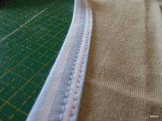 Tafana: Lemování výstřihu proužkem na třetiny Fabric Stamping, Sewing Tutorials, Diy And Crafts, Pattern, Coloring, Inspiration, Clothes, Scrappy Quilts, Biblical Inspiration