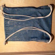 Gym bag Turnbeutel Rucksack Jeans von WTFbags auf Etsy