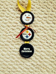 Steelers Bottle Cap Ornament made by me! Message me at mbaez3@live.com to order one!