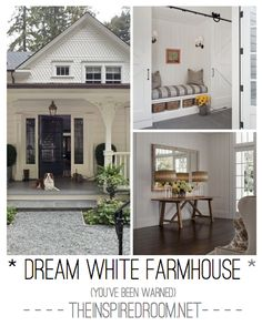 DIY:: The most Amazing White Farmhouse - Makeover ! Tons of Ideas !