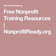Free Nonprofit Training Resources | NonprofitReady.org