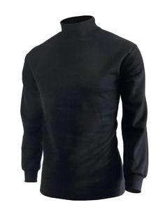 BCPOLO Men's half Turtleneck Long Sleeves warm sweat cotton mock neck style t-shirt.