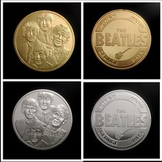 40*3mm The Beatles Bank Gold/Silver Plated Souvenir Coin,No magentic