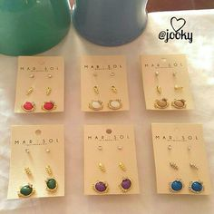 6 COLORS AVAILABLE! cat, fish, crystal earrings super cute set of 3 earrings! 6 color combos available (see below) the cat is about the size of a dime, the others are tiny.  NWT and in original packaging. no trades.   available in: black/silver, blue/silver, purple/gold, white/gold, beige/gold & red/gold Jewelry Earrings