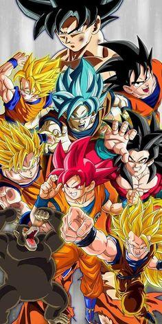 Goku all forms Akira, Dragon Ball Z, Goku Transformations, Super Goku, Dbz Drawings, Films Marvel, Majin Boo, Manga Dragon, Best Anime Shows