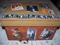 caixa com temática de cinema