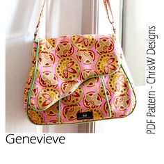 Looking for your next project? You're going to love Genevieve Messenger PDF Bag Pattern by designer ChrisW Designs.