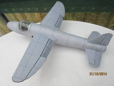 Heinkel He-178 Ver.3 Free Aircraft Paper Model Download