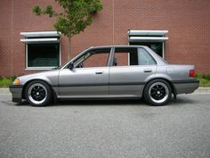 1990 Honda Civic sedan - fifth car - gray LX like this one, not lowered and stock wheels though