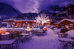 Romantic Terrace at STOCK resort, Tyrol, Austria / www. Tyrol Austria, Spa, Terrace, Romantic, Table Decorations, Winter, Home Decor, Vacation, Balcony