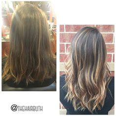 BEFORE & AFTER  grown out foils ➡️ beautiful balayage! #nofilter #spalon #spalonmontage #salon #hayleyatspalon #thehairbuth #cosmetology #cosmetologist #hair #haircut #haircolor #color #woodburyhair #job #career #askforhayley #loreal #lorealpro #cut #hairstylist #minnesotahair #twincities #licensedtocreate #naturallight