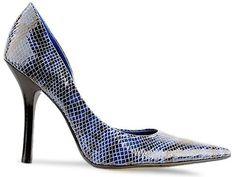 GUESS Women's Carrie Pump Blue Snake