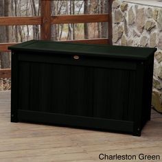 Highwood Eco-friendly Synthetic Wood Premium Deck Storage (Deck Storage Box. King Size. Charleston Green.), Patio Furniture (Plastic)