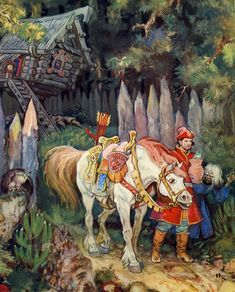 Photo of Russian Fairy Tales for fans of Fairy Tales & Fables. I love russian fairy tales .they r really really awesome and soo sweet ! Art And Illustration, Botanical Illustration, Fairy Tale Illustrations, Fantasy Kunst, Fantasy Art, Art Du Temps, Eslava, Russian Folk Art, Vintage Fairies