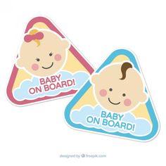 Señales de bebé a bordo Vector Gratis