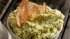 Brian Boitano's Garlicky White Bean Artichoke Dip Recipe | Rachael Ray Show