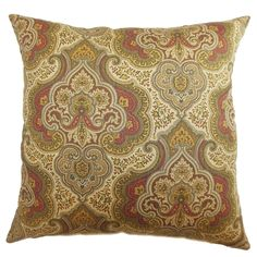 Danielle Paisley Down Filled Throw Pillow Spice - Overstock™ Shopping - Great Deals on PILLOW COLLECTION INC Throw Pillows