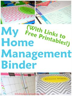 Home Management Binder with links to free organizing printables!