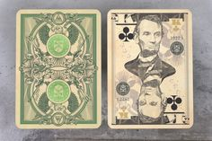 Legal Tender - Currency Inspired Playing Cards by Jackson Robinson. On Kickstarter.