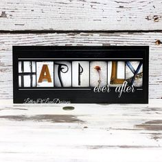 HAPPILY EVER AFTER Sign Wood Wedding by LettersOfLoveDesigns