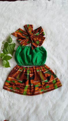 African skirt/African babygirl clothes/baby set/ by Ethnicbabies African American Fashion, African Fashion Skirts, African Fashion Designers, African Inspired Fashion, African Skirt, Ankara Skirt, Baby African Clothes, African Dresses For Kids, African Babies