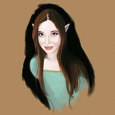 Ennyria - My elvish friend portrait by Francisco-Moraes on @deviantART