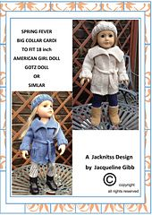 Ravelry: American Girl Doll Spring Fever Big Collar Cardi pattern by Jacqueline Gibb