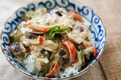 Eggplant Green Curry...oh my this is one of my favorite dishes...I have to try this recipe!