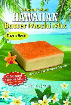 Hawaii's Best Butter Mochi and Coconut Bread Mix Hawaii Desserts, Asian Desserts, German Desserts, Asian Snacks, Japanese Desserts, Butter Mochi, Birmingham, Gluten Free Recipes For Kids, Gluten Free Desserts