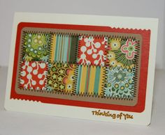"Love the stitch work on this ""quilted"" card. Very nice!"