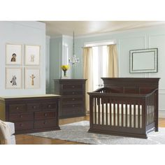 Baby Chic Venice Collection In Espresso Beautiful Elegant Rich Finish Farmhouse Nursery Furniture