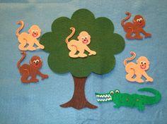Five Little Monkeys Felt Board