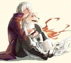 Dante x Amaterasu. So much yessss!