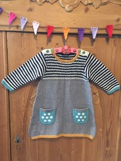 Diy Baby, Knit Crochet, Projects To Try, Knitting, Sweaters, Knapper, Crafts, Bomuld, Baby Dresses
