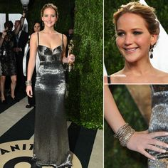 Stunning Calvin Klein. She should have worn this instead of what she wore to the Oscar ceremony.