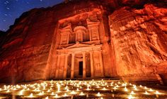 Travel to Jordan with Flash Pack and join like-minded solo travellers in their & Admire Petra by night, surrounded by 1500 glowing candles & Adventure Holiday, Adventure Travel, Petra Tours, Seychelles, Jerash, Jordan Travel, Les Continents, Travel Tags, Tourist Sites