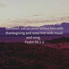 Ps. 95:1,2