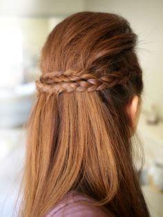 Braid sleek hairstyle
