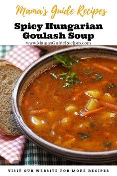 Grandma's Goulash Recipe, Recipe For Hungarian Goulash, Goulash Soup Recipes, Beef Goulash, Hungarian Recipes, Hungarian Food, German Recipes, Guisado Recipe, Caldereta Recipe