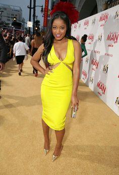 Keke Palmer at the Think like A Man 2 premier Celebrity Beauty, Celebrity Style, Buxom Beauties, Cute Dresses, Summer Dresses, Hipster Girls, Beautiful Black Girl, Buy Dress, Yellow Dress
