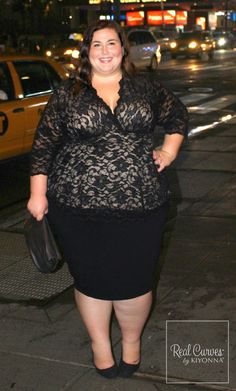 cbb7e1b6b Our plus size Linden Lace Top just looks gorgeous on blogger Rebecca (5'4
