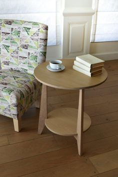 Sandton side table and slipper chair by Pierre Cronje Solid Wood Furniture, Contemporary, Chair, Side Tables, Slipper, Desks, Home Decor, Mesas, Decoration Home