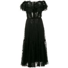 Dolce & Gabbana Off-The-Shoulder Lace Dress ($2,398) ❤ liked on Polyvore featuring dresses, black, short sleeve dress, off the shoulder lace dress, stretch lace dress, short-sleeve dresses and off-shoulder dresses