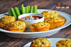 Buffalo Chicken Egg Muffins – Low Carb, Gluten Free. Omit cheese for dairy-free/paleo.   Looks delicious!