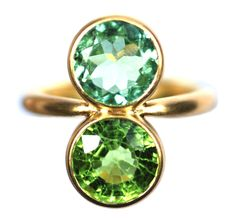 Marie Helene de Taillac ring set with unpolished gold.